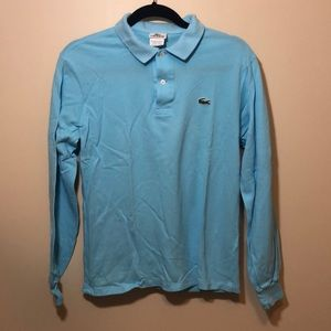 LK NEW LACOSTE light blue pique polo shirt size 3